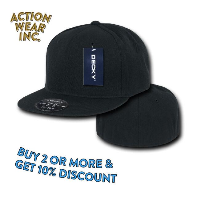 48be991cecb Decky Basic Plain RETRO Fitted BASEBALL CAP Hat FLAT Bill Hats FLAT Brim  Wide  Picture 2 of 10  Picture 3 of 10  Picture 4 of 10. 7. Picture 10 of 10