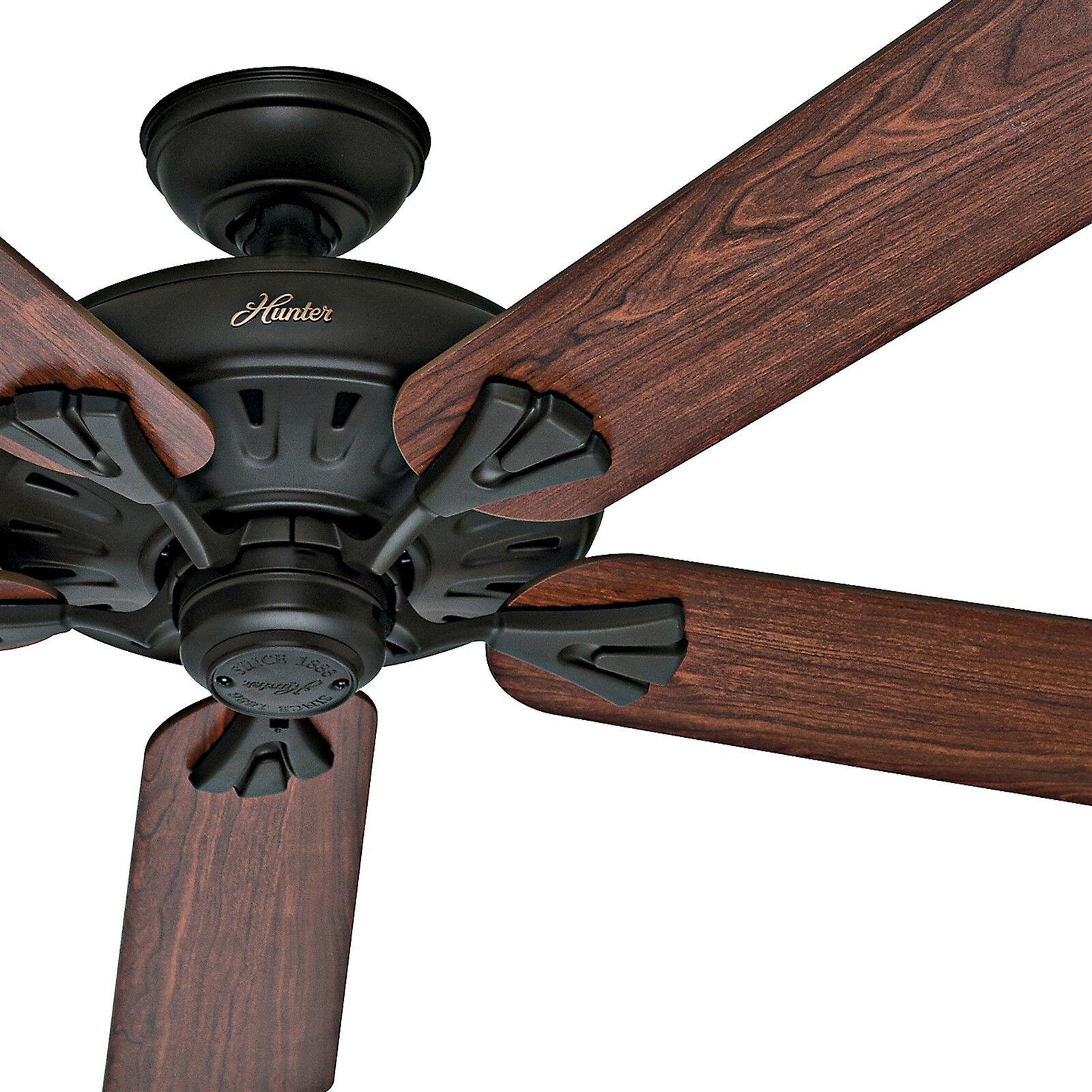 """Hunter 60"""" Bronze Energy Star Ceiling Fan With 5 Dark Cherry oak"""