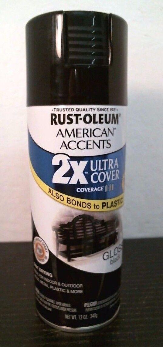 Rust-Oleum American Accents Ultra Cover 2x Gloss Black   eBay