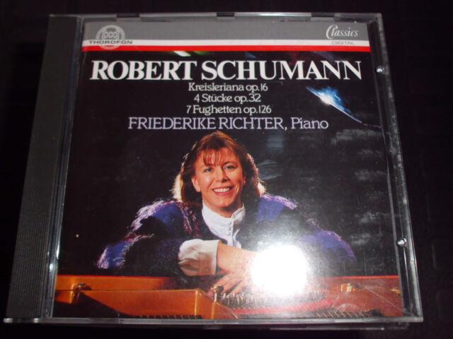 FRIEDERIKE RICHTER (Piano) Robert Schumann Kreisleriana Klassik CD, 19 Tracks!!!