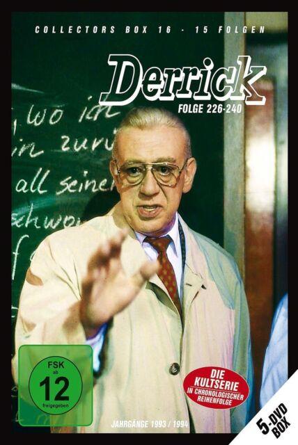 5 DVDs * DERRICK - COLLECTOR'S  BOX 16   HORST TAPPERT - FRITZ WEPPER  # NEU OVP