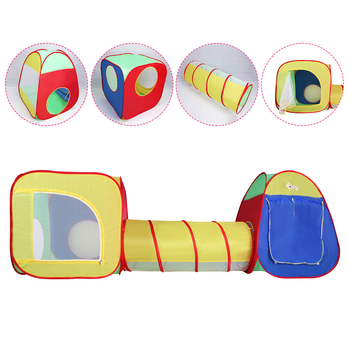 Picture 1 of 6 ...  sc 1 st  eBay & Costzon Baby Play Tent Tunnel Portable Foldable Indoor Outdoor ...
