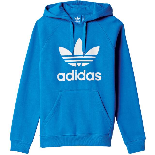 Cheap Adidas Originals 3Foil Blue Hoodie for Men On Sale