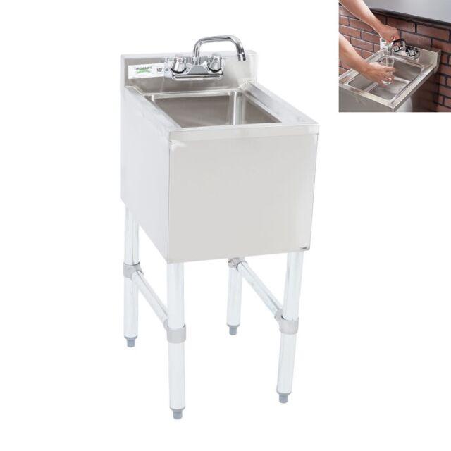 regency commercial 1 bowl underbar hand sink w swivel faucet 14 12 - Hand Wash Sink