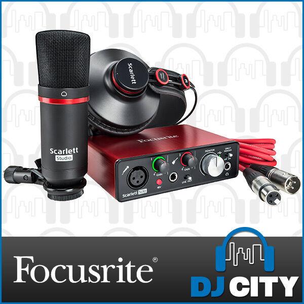 Focusrtie Scarlett Solo Studio 2nd Gen USB Audio Interface Bundle - NEW - DJ ...