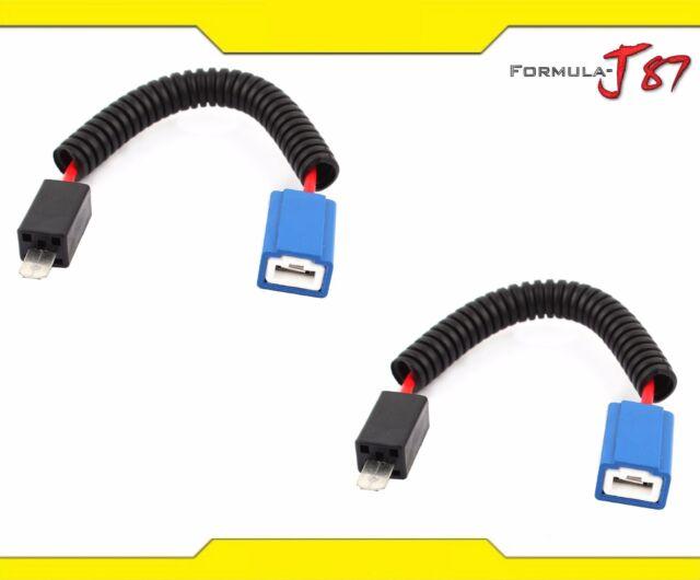 Wire Halogen H3 Two Harness Head Light Socket Adapter Ceramic High ...
