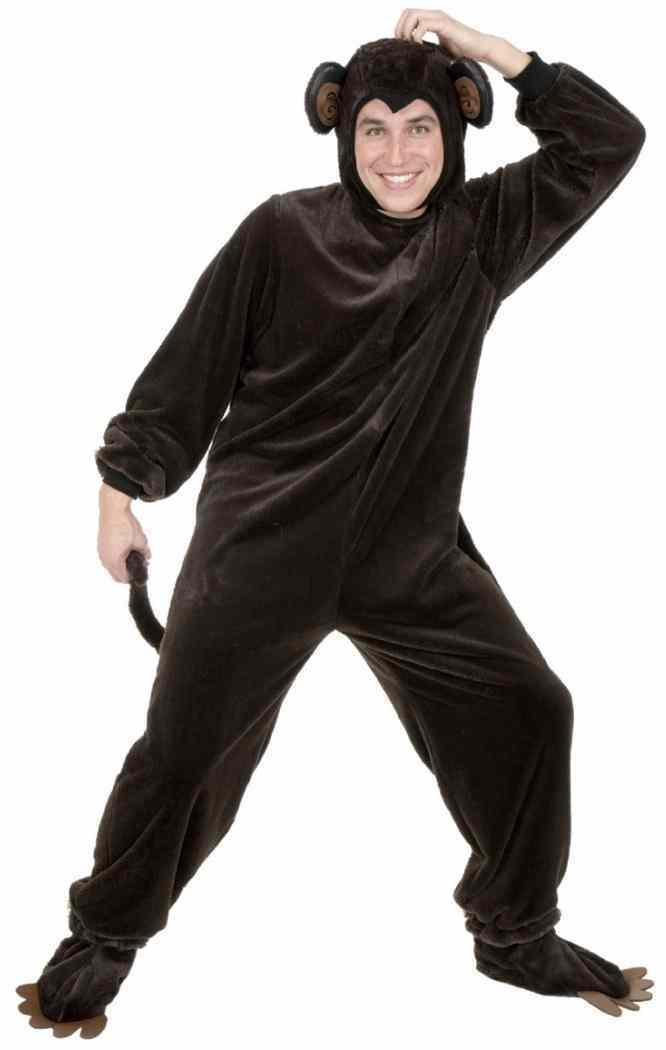 Picture 1 of 2 ...  sc 1 st  eBay & Plus Size Chimpanzee Mens Animal Halloween Costume 3x   eBay