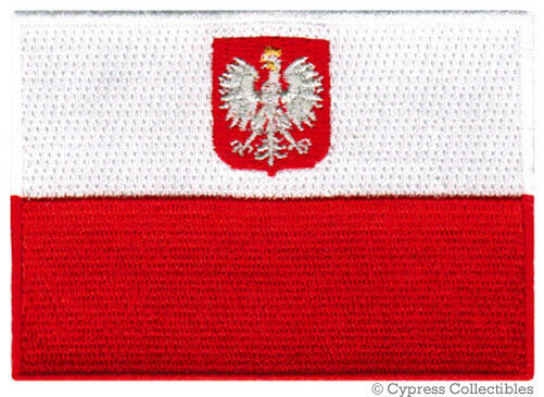 poland national flag patch polish embroidered emblem iron on