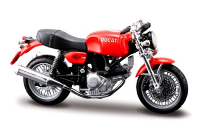 DUCATI GT 1000 Rosso, Maisto Modellino Moto 1:18, conf. orig. , NUOVO