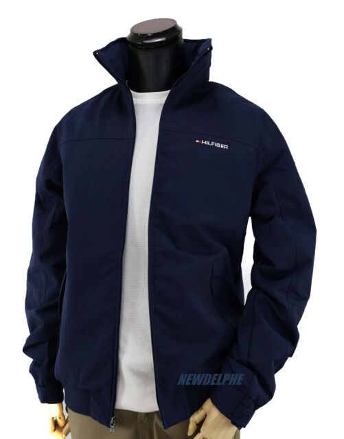 Tommy Hilfiger Mens Yacht Jacket Navy Windbreaker All Sizes Water ...