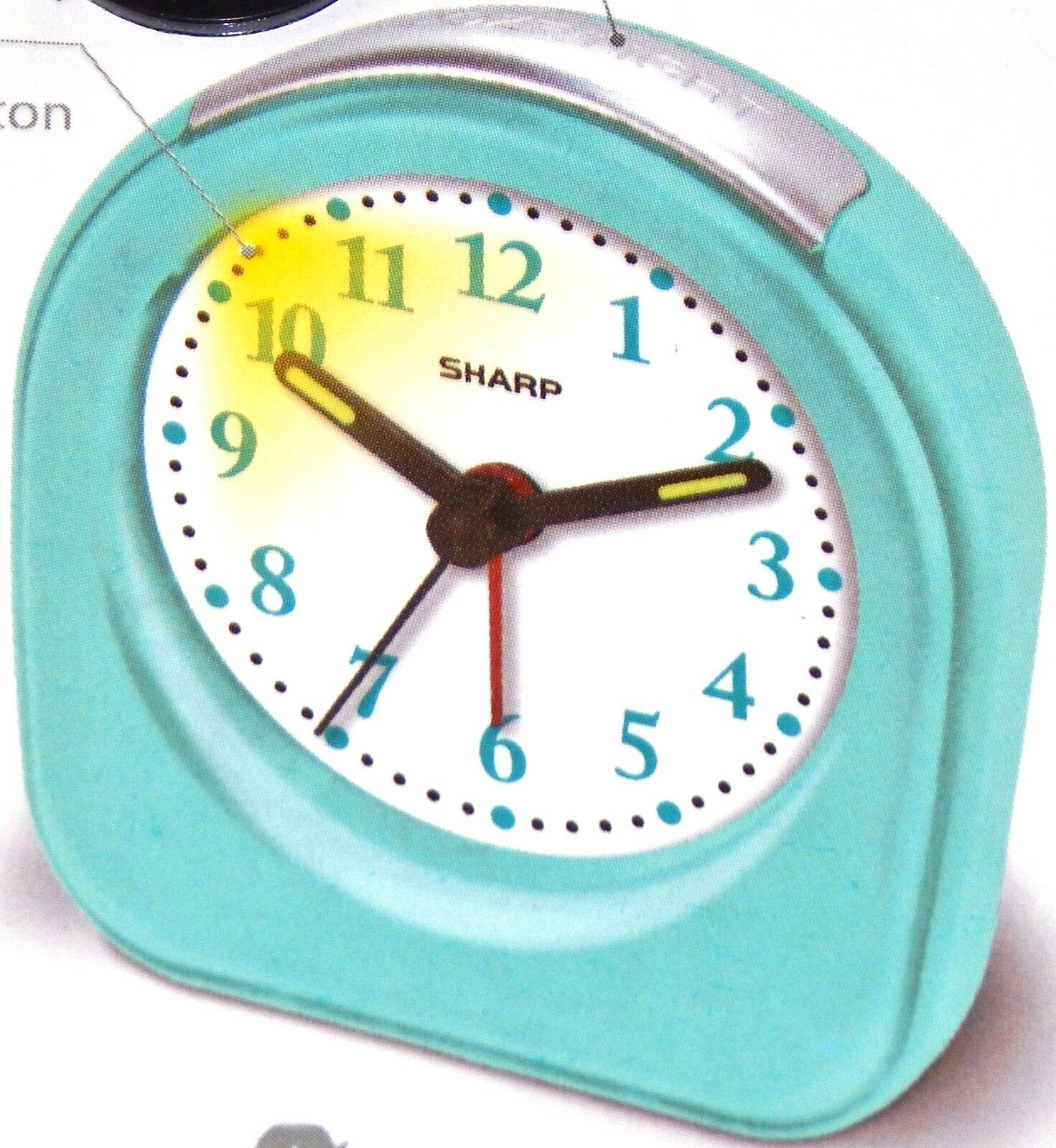 Sharp battery powered ascending alarm clock back light hands glow picture 1 of 12 amipublicfo Images