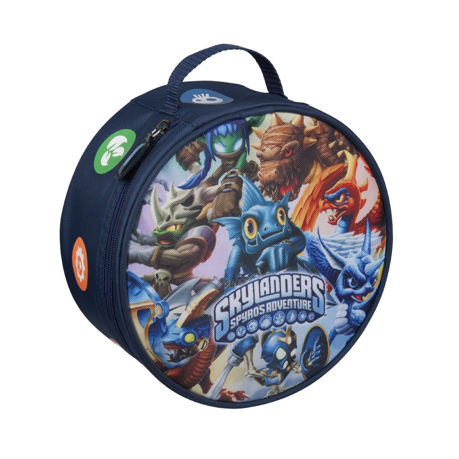 new skylanders spyros adventure zip case carrying bag fits 8 figures