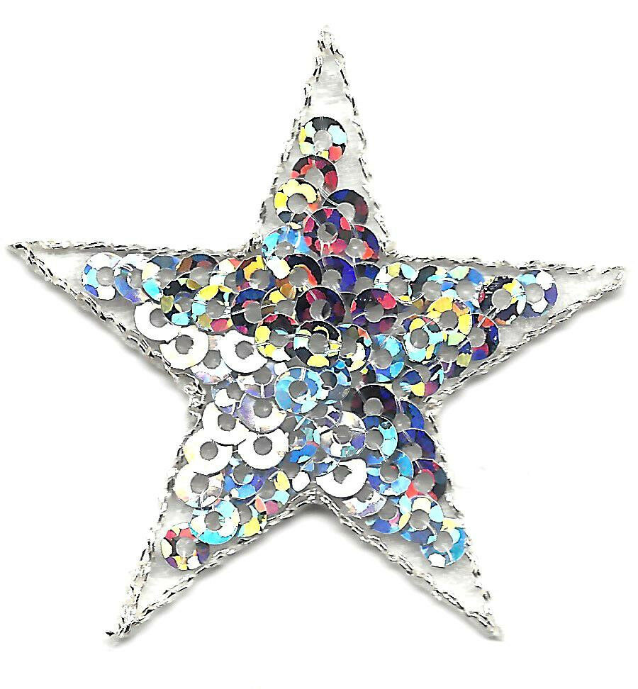 10 x White Embroidery Star Sew Iron On Patch Badge Bag Hat Jeans Fabric  Applique