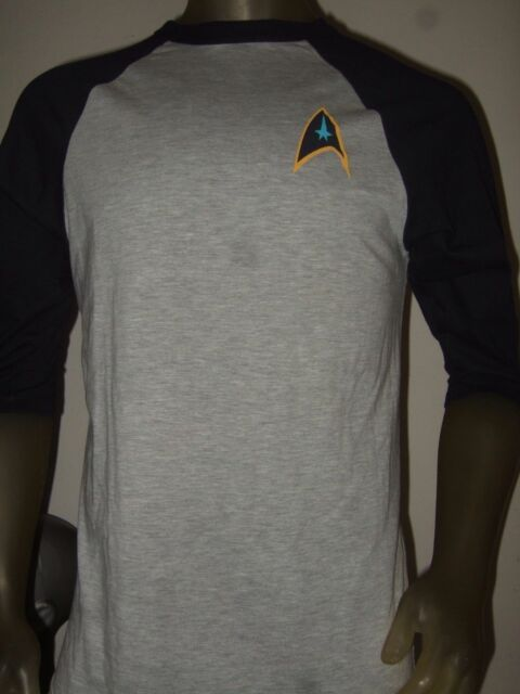 Mens Large Star Trek Delta Command Symbol Space Logo Graphic Raglan