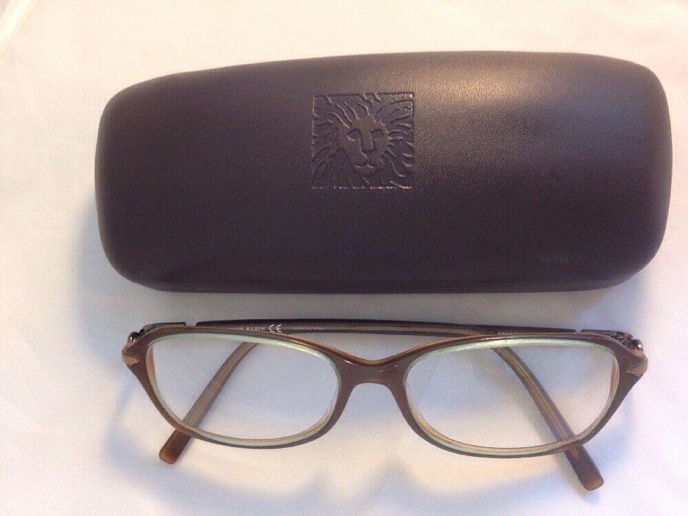 Anne Klein Eyeglass Frames AK8043 Brown Plastic Rectangular Full Rim ...