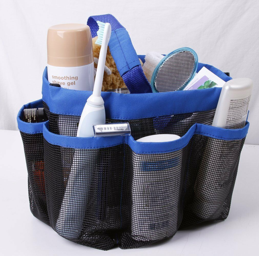 Shower Mesh Basket Bag 8 Pocket Quick Dry Breathable Caddy Tote ...
