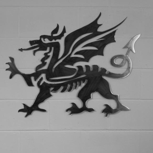 Cymru Welsh Dragon Wall Art Solid Steel Metal Hand Finished Y Ddraig ...