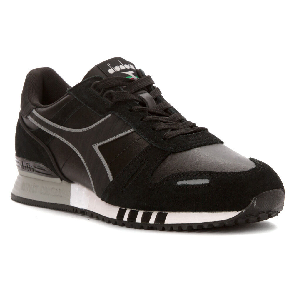 Diadora Hombre TITAN Leather L/s Running Zapatos Negro/Negro 9 M eBay US   eBay M a7f07d