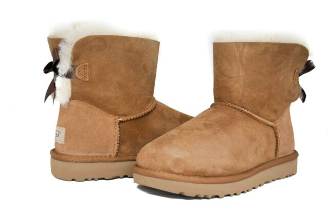 Ugg Australia Womens Mini Bailey Leather Boots PD_5220
