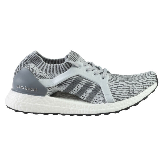 Adidas Ultra Boost X Womens BB1695 Clear Grey Primeknit Running Shoes Size 9.5