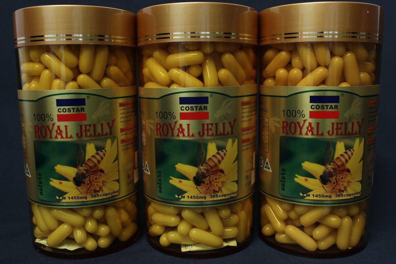 3 X Costar Star Combo Royal Jelly 1450mg 365 Capsules RoyalJelly ...