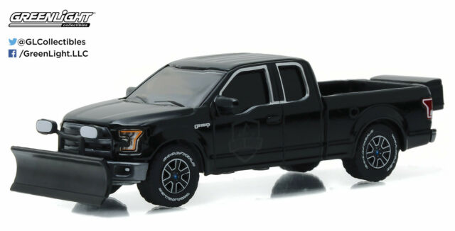 164 GreenLight BLACK BANDIT R16 2015 Ford F150 Pickup Truck W