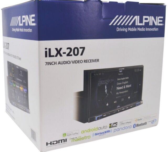 alpine ilx 207 7 media receiver with apple carplay. Black Bedroom Furniture Sets. Home Design Ideas