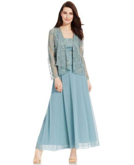 Patra Spearmint Green Womens Size 8 Lace Popover Maxi Dress Set Ebay