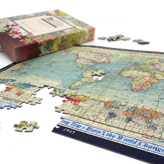 Personalised world map jigsaw puzzle gift ebay personalised world map jigsaw puzzle gift gumiabroncs Image collections