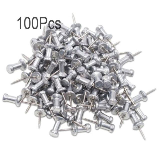 lieomo 100 pcs aluminum head push pins steel 5 8 inch point silver