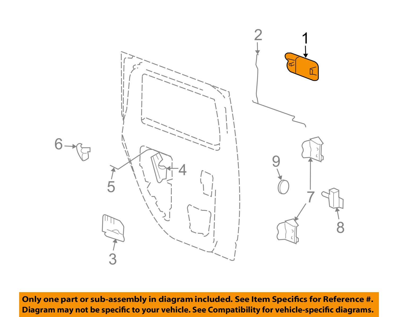 s l1600 hummer gm oem 03 09 h2 rear door handle outside exterior left