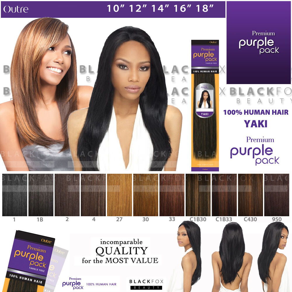 Outre Purple Pack 100 Human Hair Weave 10 27 Ebay