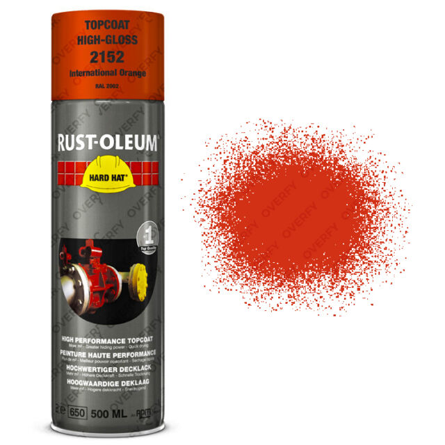 x1 Ultra-Coverage Rust-Oleum International Orange Spray Paint Hard Hat RAL2002