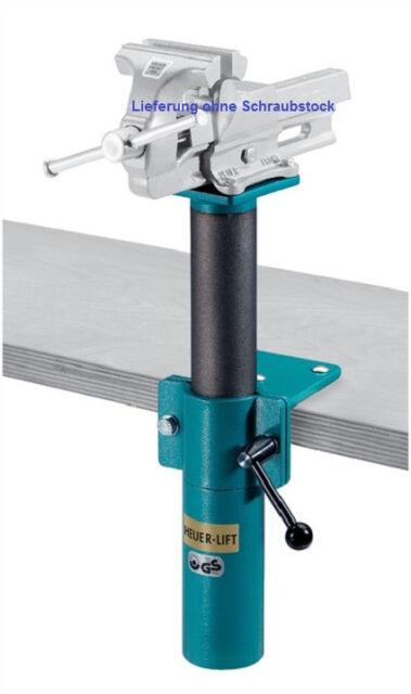 HEUER Schraubstock - Höhenverstellgerät Höhenversteller für 160 mm Backenbreite