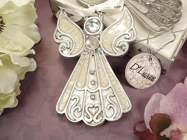 1 Angel Ornament Hanging Christmas Wedding Favor Holidays Gift Epoxy ...