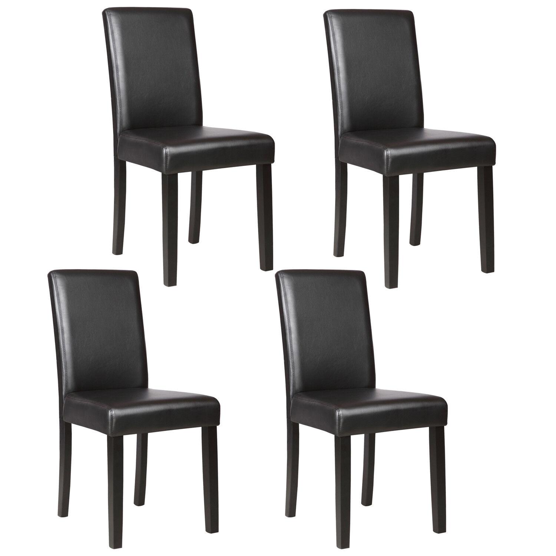 Kitchen Dinette Dining Room Chair Elegant Design Leather Backrest ...