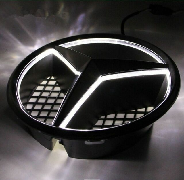 Mercedes benz front grille led star emblem car illuminated for Mercedes benz led star