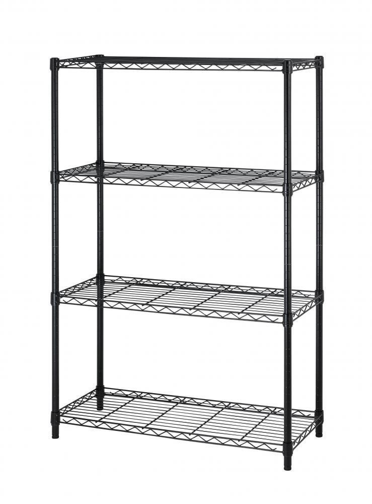 Heavy Duty 4 Tier Layer Shelf Adjustable Steel Wire Metal Shelving ...