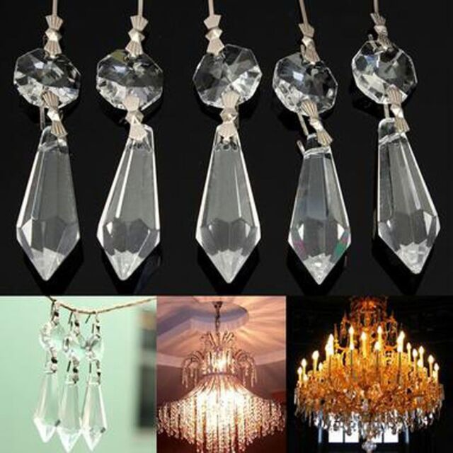10x chandelier glass crystals lamp prisms parts hanging drops 10x crystals chandelier glass lamp prisms clear parts hanging drops pendant 38mm aloadofball Image collections