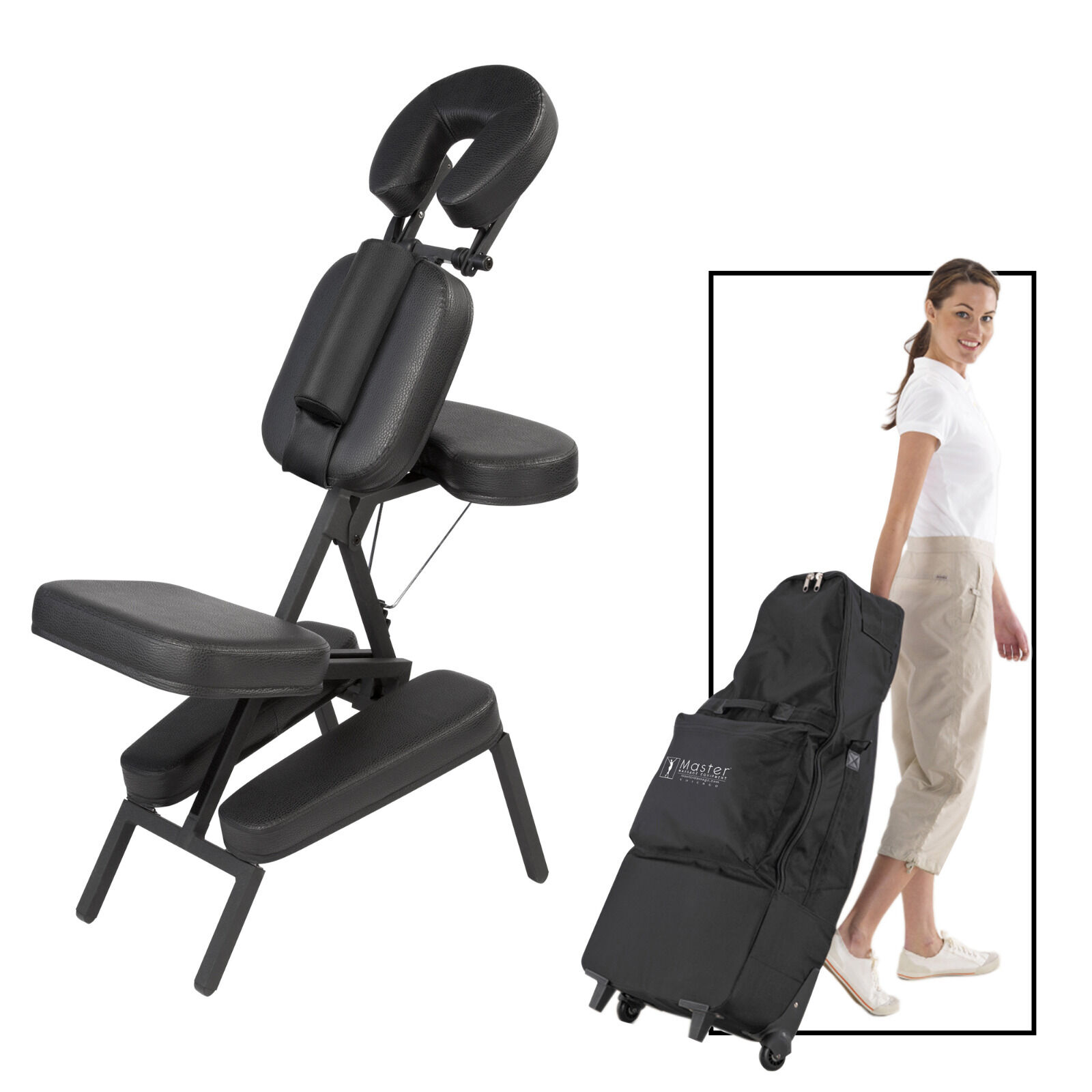 Picture 1 of 6 ...  sc 1 st  eBay & Master Massage Apollo Lightweight Extra Large Portable Chair With ...