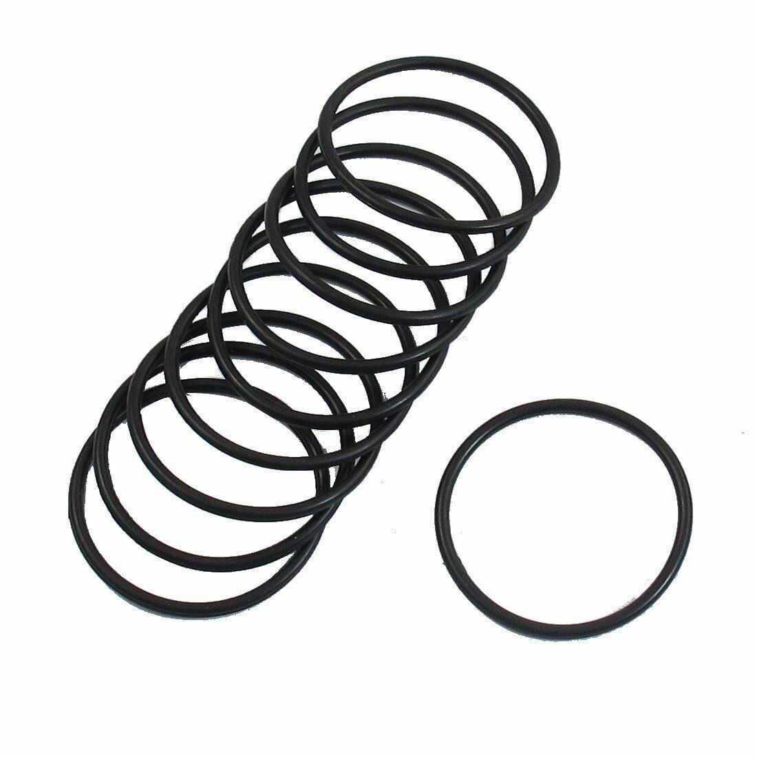 10 Pcs 35mm X 2mm Industrial Flexible Rubber O Ring Seal Washer S6 ...