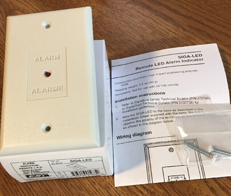 s l1600 edwards est siga led fire alarm remote red led indicator ebay siga cr wiring diagrams at love-stories.co