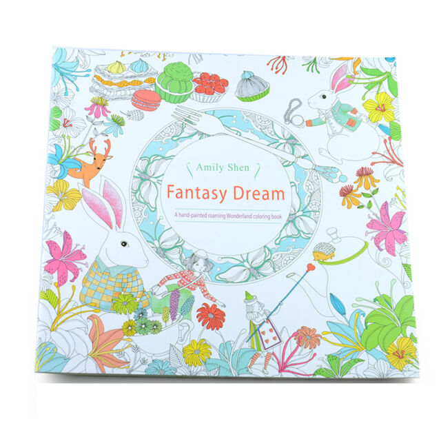 Child Adult Fantasy Dream Art Therapy Colouring Painting Books Kids ...