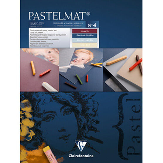 Clairefontaine Pastelmat - Pastel Card Pad -360g (Ref 4)- 96111C - 24 x 30cm