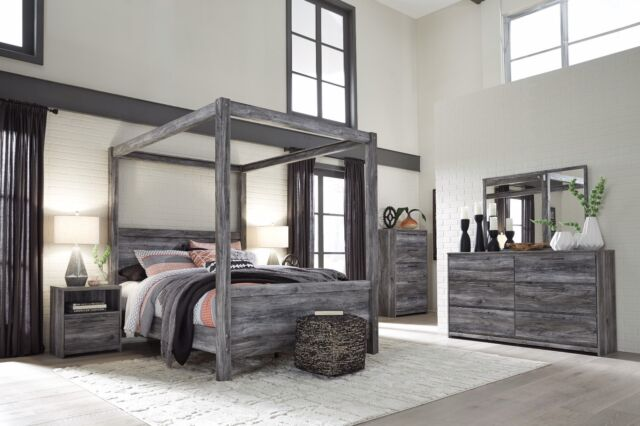 Ashley Furniture Baystorm Queen Canopy 5 Piece Bedroom Set B221 | eBay