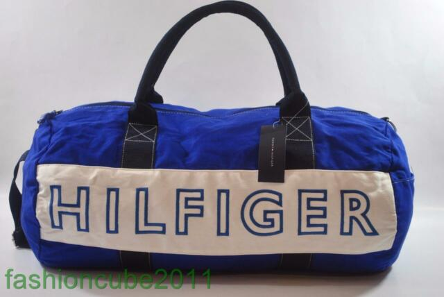 New With Tag Tommy Hilfiger Large Harbour Point Duffle Gym Bag Blue