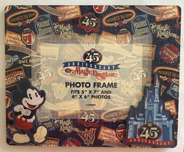Disney World Magic Kingdom 45th Anniversary Photo Picture Frame 4x6 ...