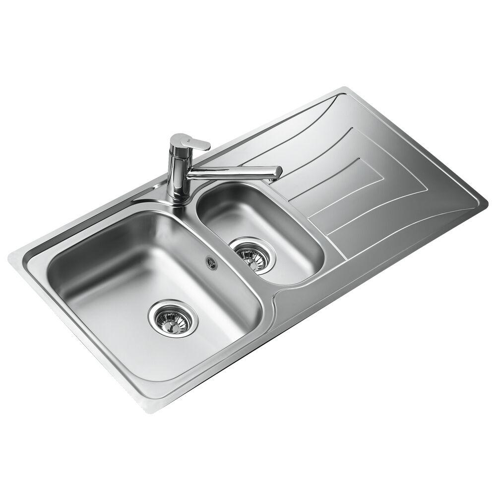 Teka Universo 1½c 1e CN Stainless Steel Reversible Kitchen Sink ...