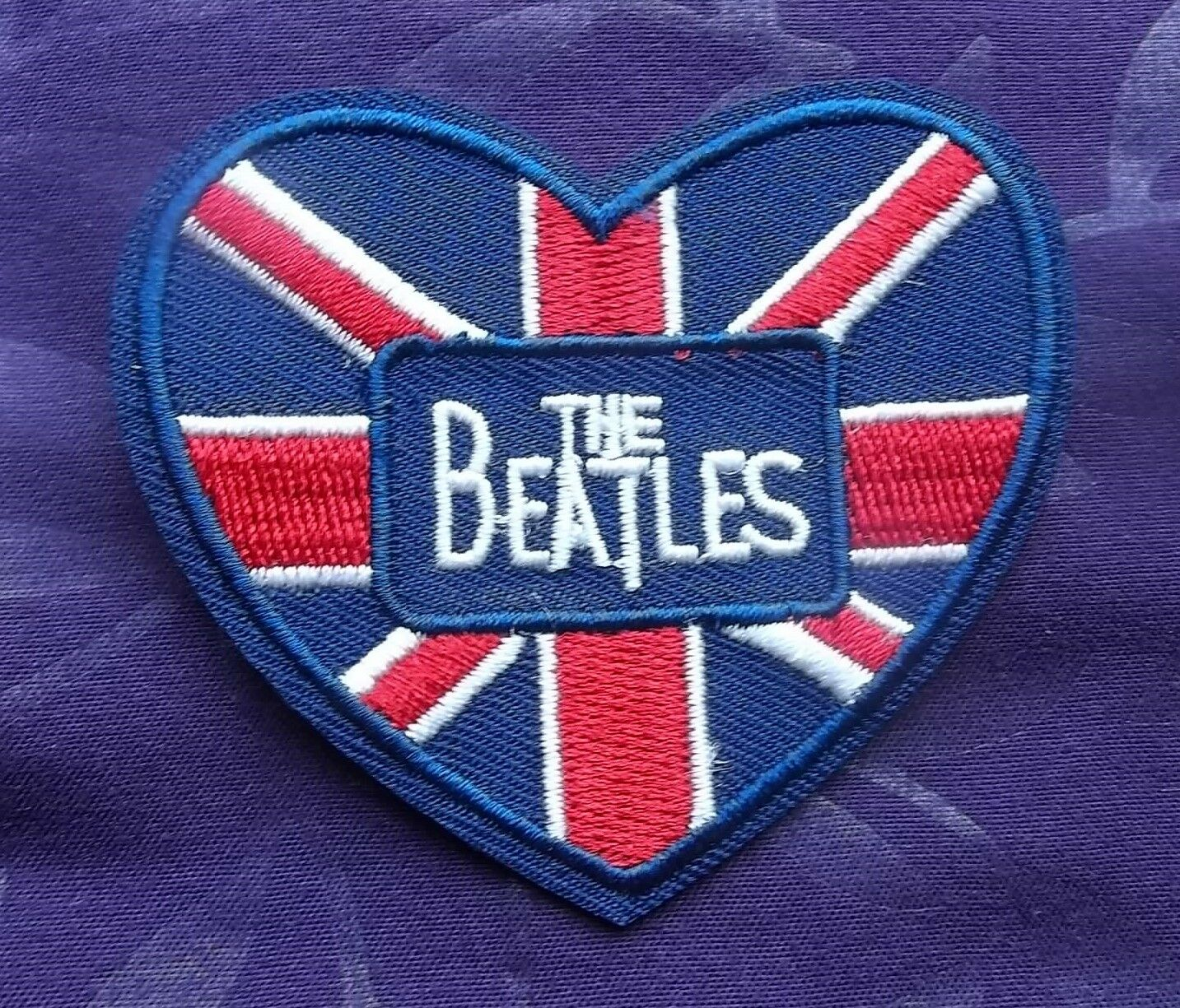 The beatles embroidered patch heart uk flag john lennon paul picture 1 of 1 buycottarizona