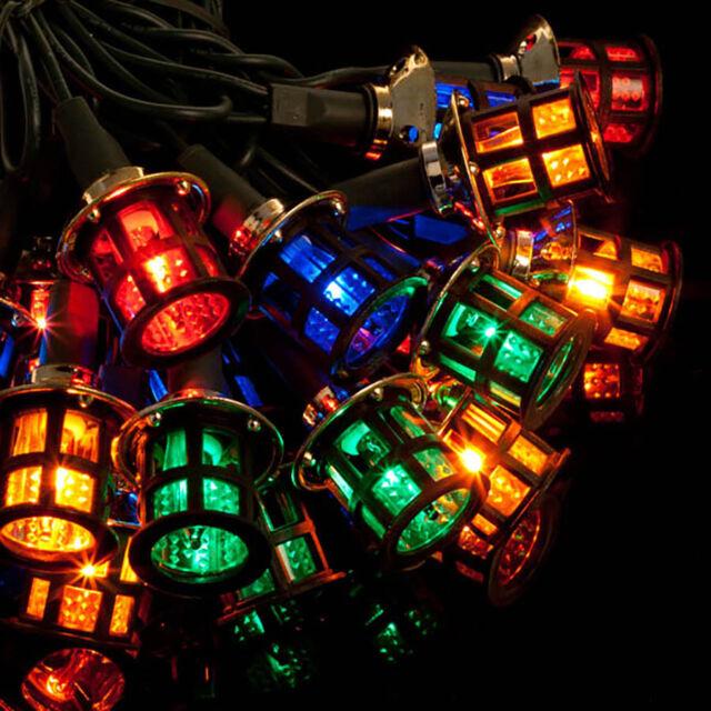 80 led mains multi coloured lantern christmas lights xmas indoor or
